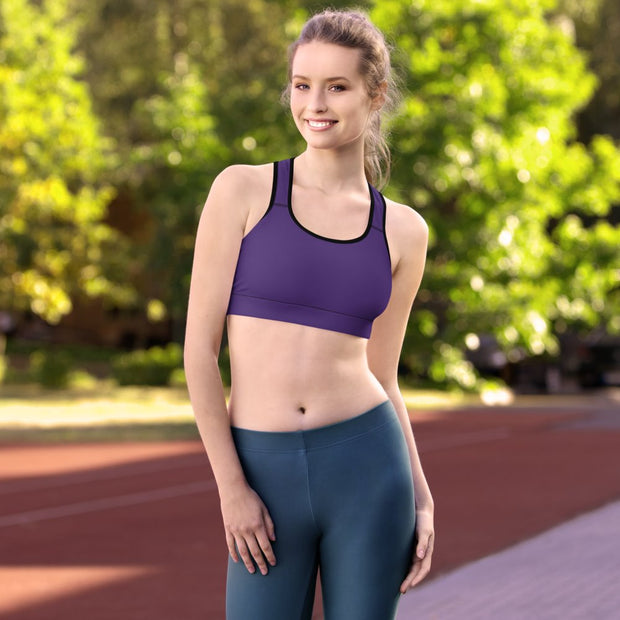 Purple Sports Bra - Molecule Design-Online