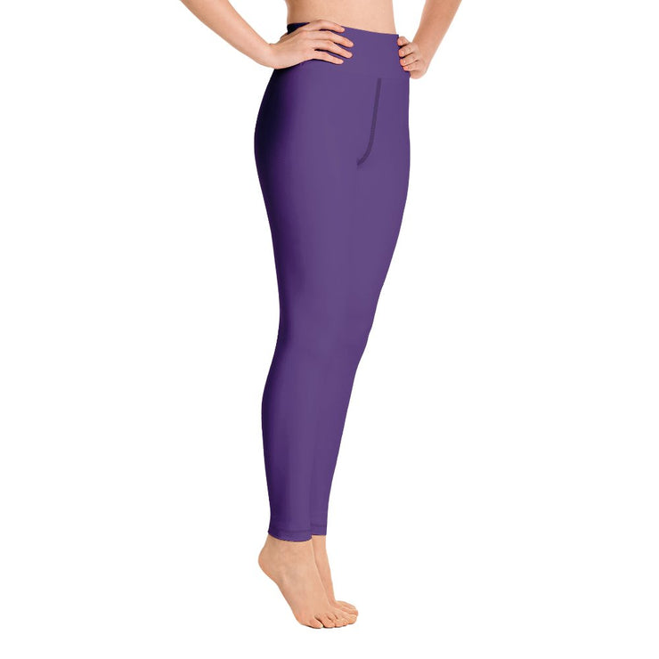 Purple Yoga Leggings - Molecule Design-Online