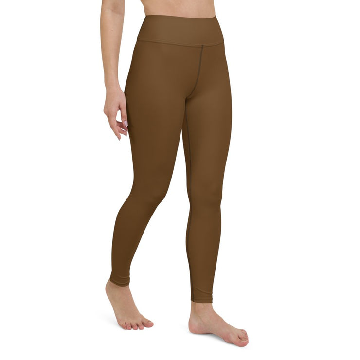 Brown Yoga Leggings - Molecule Design-Online