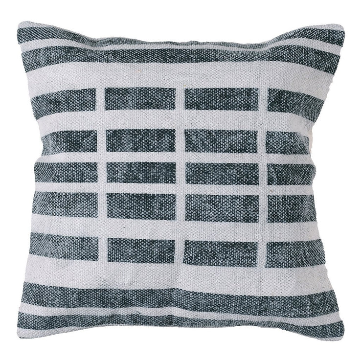 Block Print Pillow 16 x 16 - Broken Stripe (set of 2), [Molecule Design]