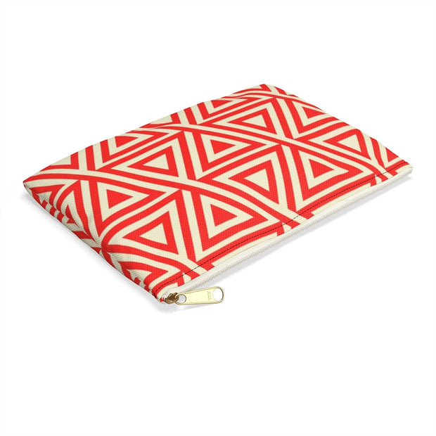 Triangulation Carry All Pouch - Flat-Wearables-Molecule Design . Online_Santa_Fe