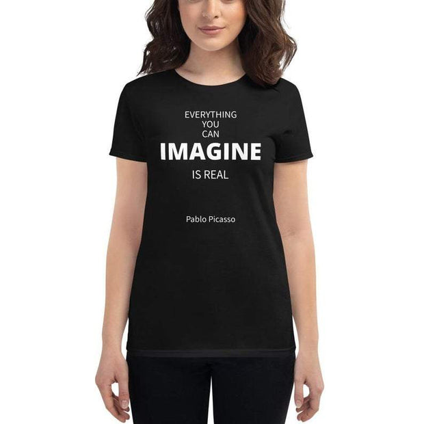 Imagine - Short-Sleeve Unisex T-Shirt / Blk - Molecule Design-Online