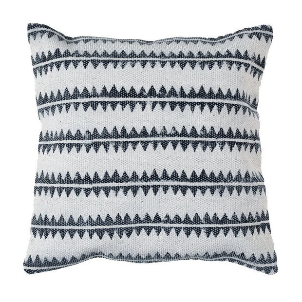 Block Print Pillow 16 x 16 - Sawtooth Stripe (set of 2), [Molecule Design]