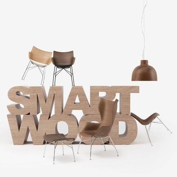 S Wood Footrest - Smart Wood Collection - Molecule Design-Online