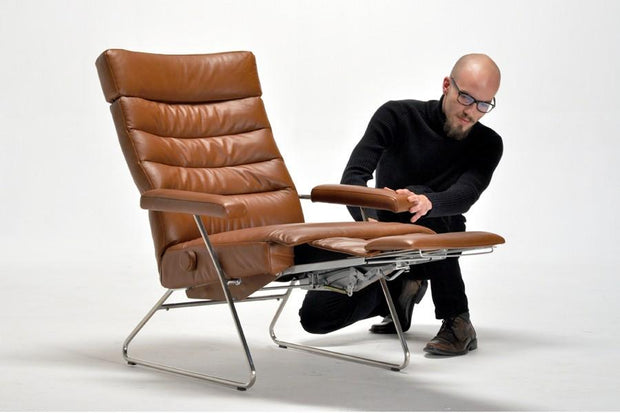 Lafer Adele Recliner - Hidden Footrest, Seating - Molecule Design - www.molecule-design-online.com
