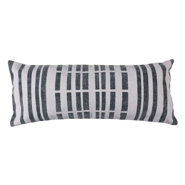 Block Print Lumbar Pillow 14 x 36 - Broken Stripe (set of 2), [Molecule Design]