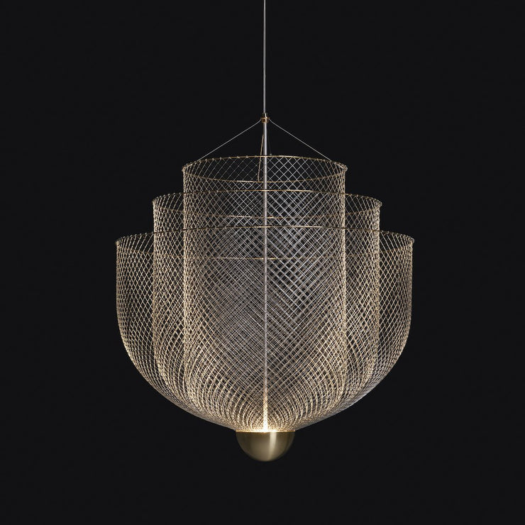 Meshmatics Small Chandelier, [Molecule Design]