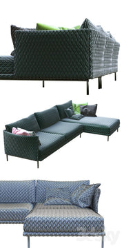 Gentry Sofa Composition, [Molecule Design]