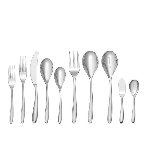 Bend 45-Piece Flatware Set, [Molecule Design]