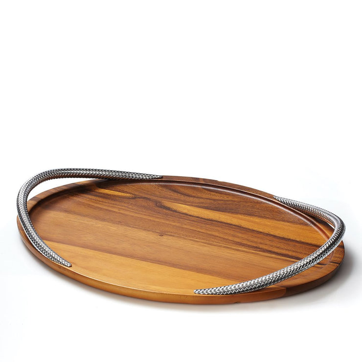"Braid Serving Tray 19"" - Molecule Design-Online"