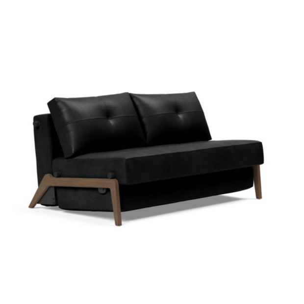 Cubed 02 Deluxe Sofa, Dark Wood Legs (Full, Queen) - Molecule Design-Online