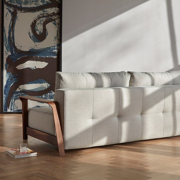 Ran D.E.L Sofa, Walnut Arms - (Queen) - Molecule Design-Online