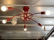 Floor sample - Octopus Lamp / 5 head/Red - Only delivers in Santa Fe, NM - Molecule Design-Online