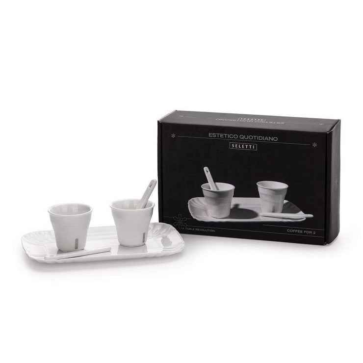 Estetico Quotidiano 2 Coffee Cups, Tray & 2 Stirrers Set - Molecule Design-Online