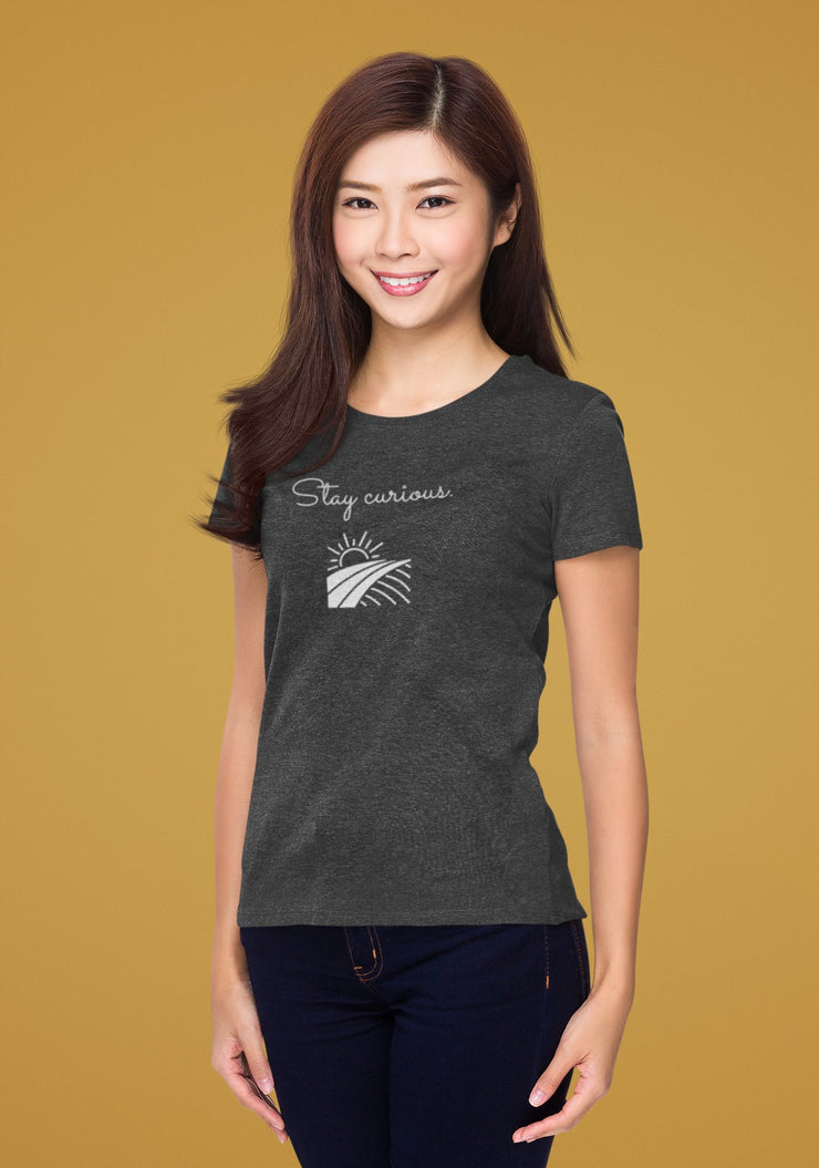Stay Curious - Women's Short Sleeve T-shirt - Molecule Design-Online