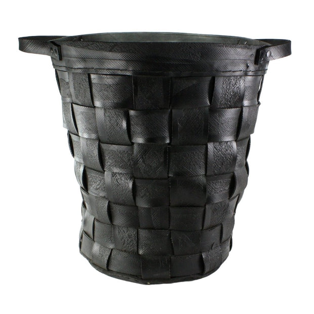 Reclaimed Tire Basket - Large - Natural Rubber, [Molecule Design]