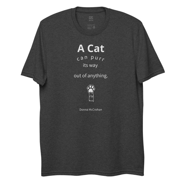A Cat - Unisex recycled T-shirt / Black, Charcoal - Molecule Design-Online