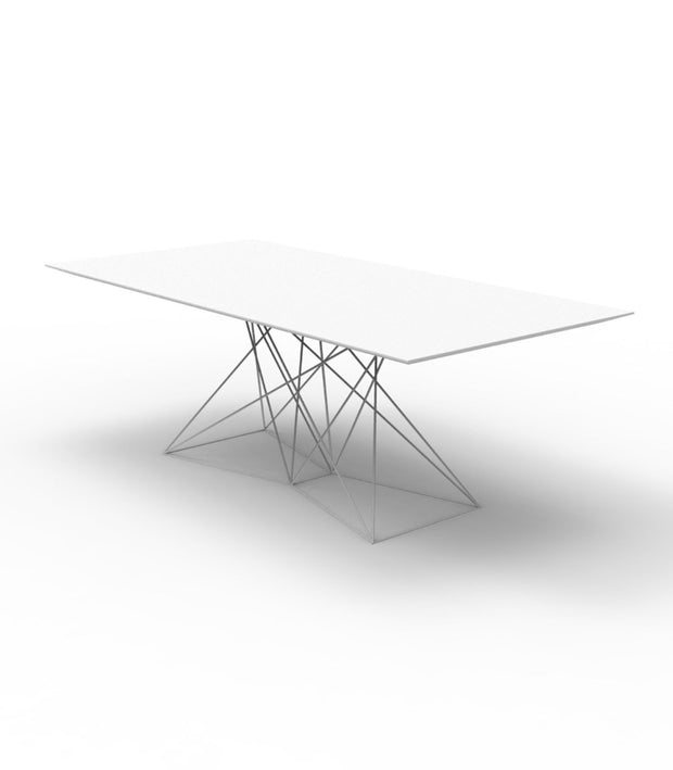 "FAZ Table Stainless Steel Base 78.3/4"" L, [Molecule Design]"