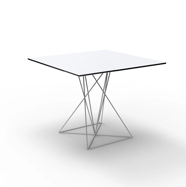 "FAZ Square Table Stainless Steel Base 35.1/2"", [Molecule Design]"