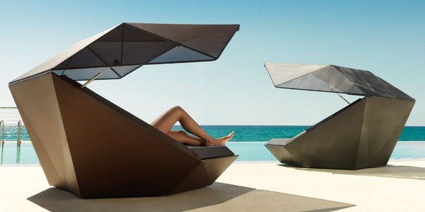 FAZ Daybed with Parasol, Outdoor - Molecule Design