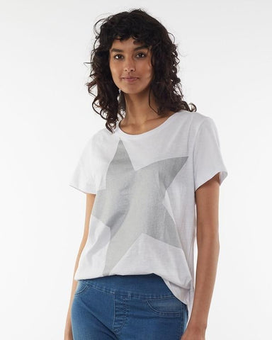Super Star Tee Elm - White/Silver