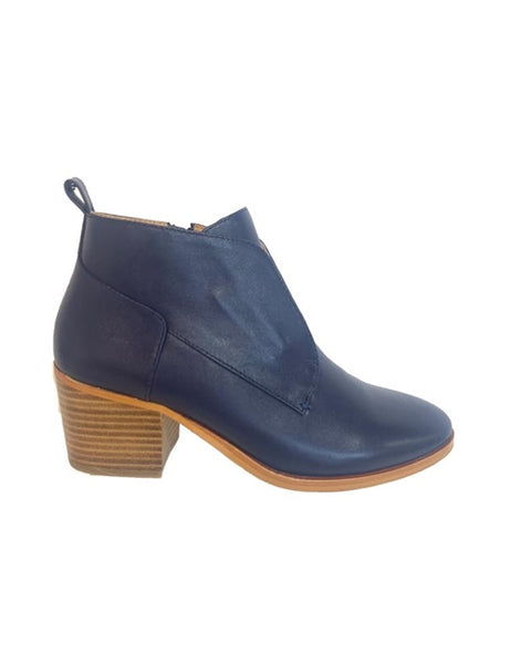 navy ankle boot bresley