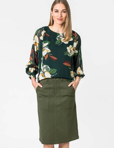 Green blouse winter 2020