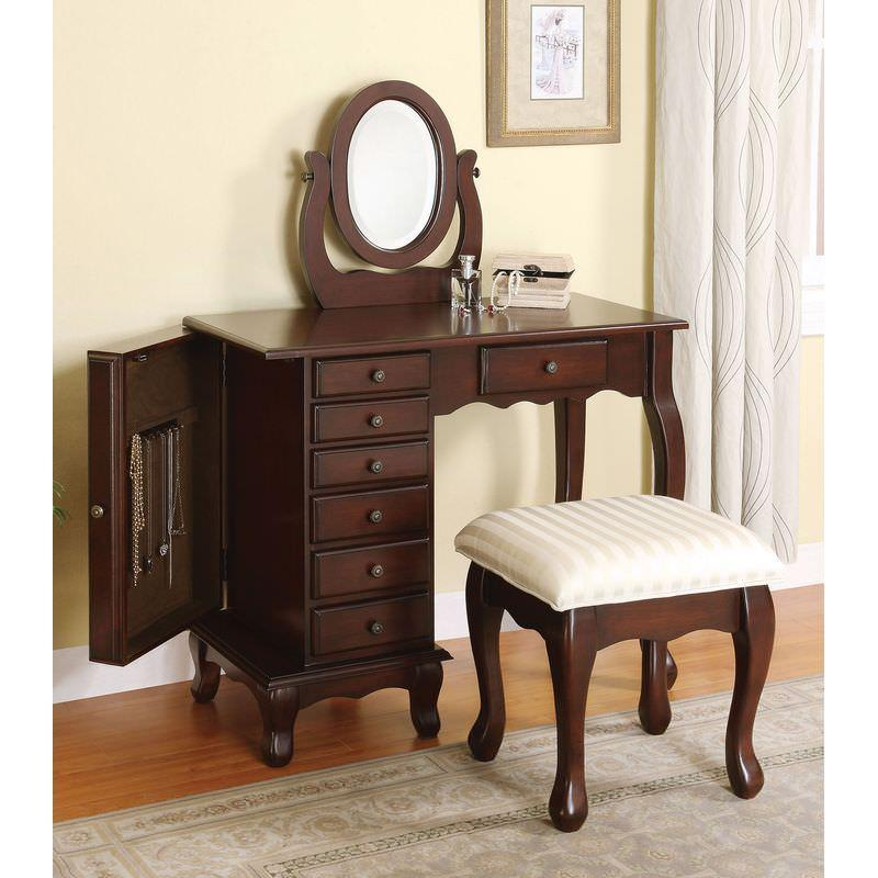 "Acme Bedroom Vanity No, Thank you Acme 06554 36"" Vanity Set in Brown"
