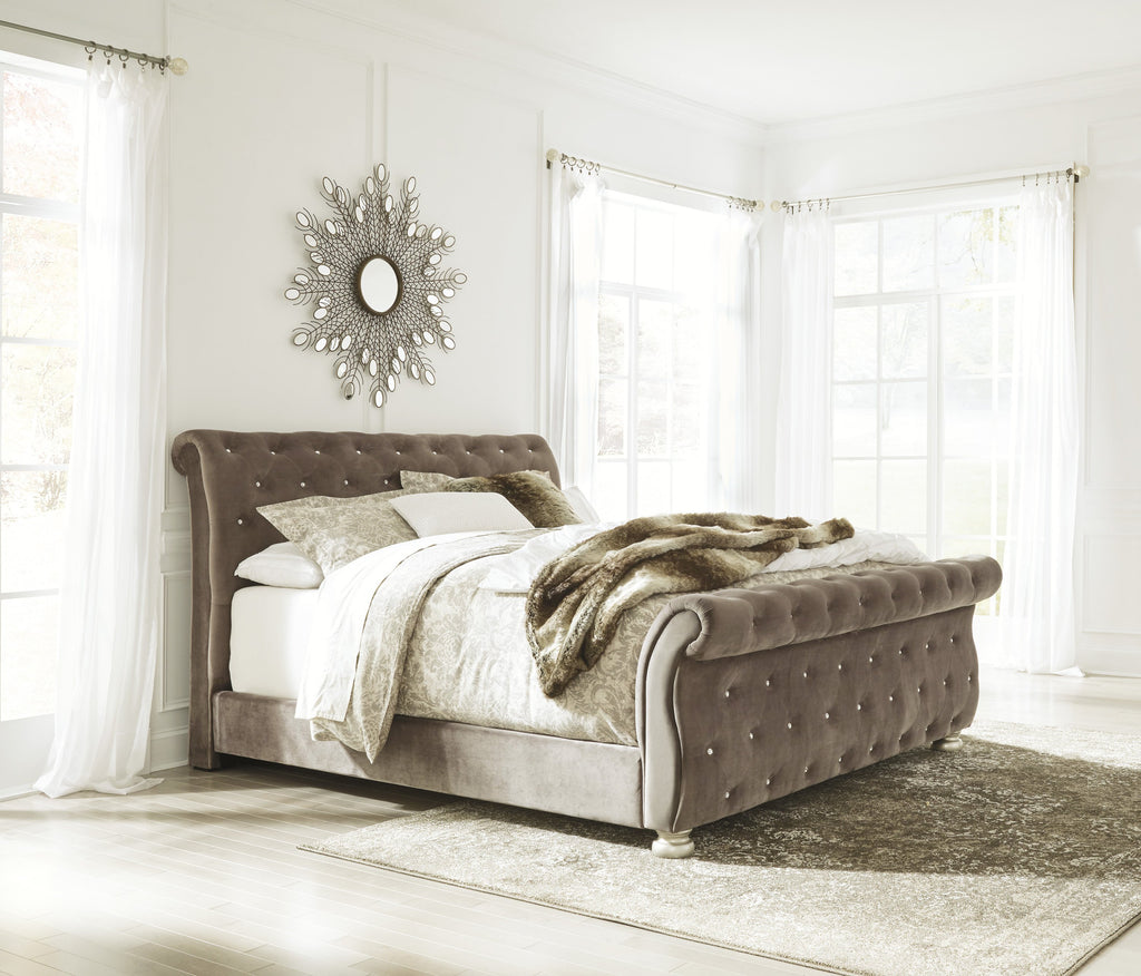 Ashley Bed No, Thank you / No, Thank you Ashley Cassimore Upholstered Bed (Queen, King)