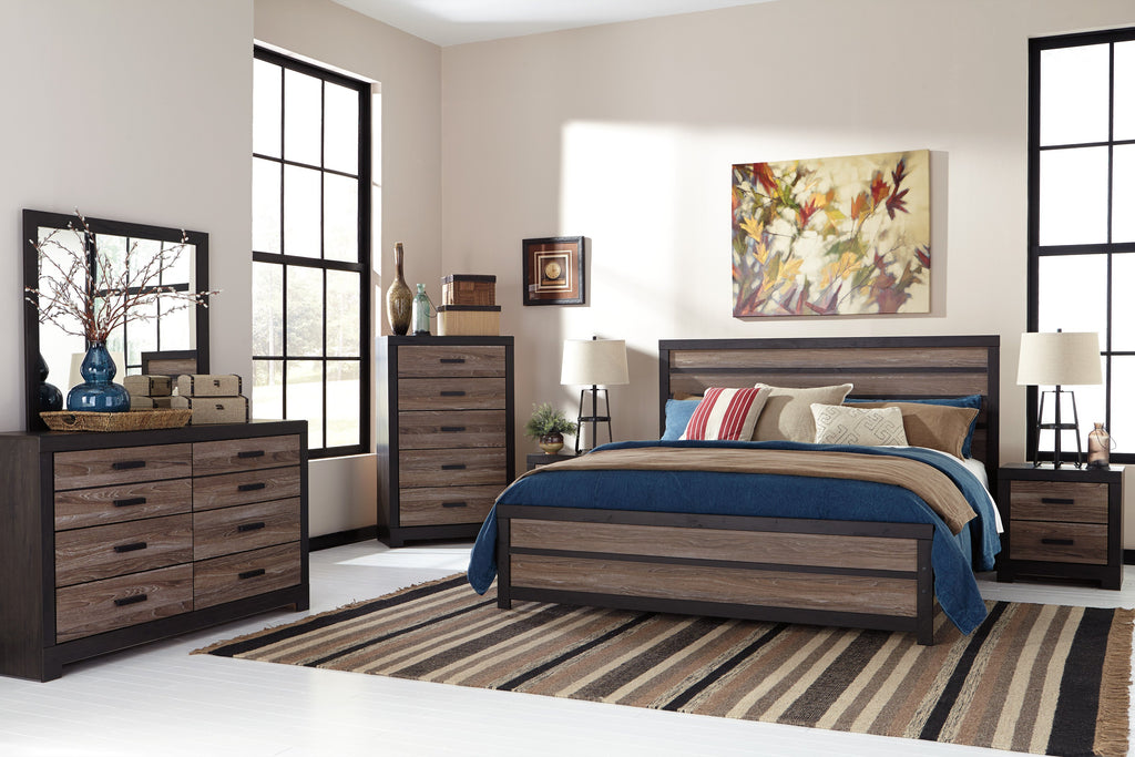 Ashley Bedroom Set No, Thank you / No, Thank you Ashley Harlinton Panel Bedroom Set (Queen, King)