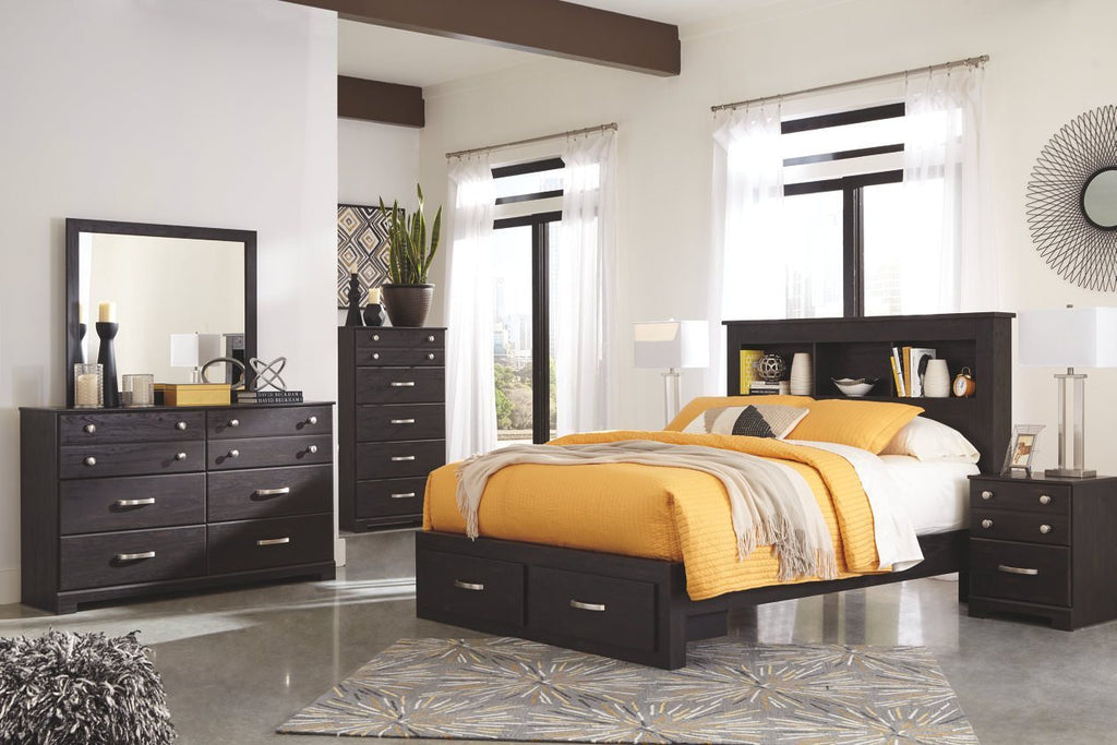 Ashley Bedroom Set No, Thank you / No, Thank you Ashley Reylow Bookcase Storage Bedroom Set (Queen, King)
