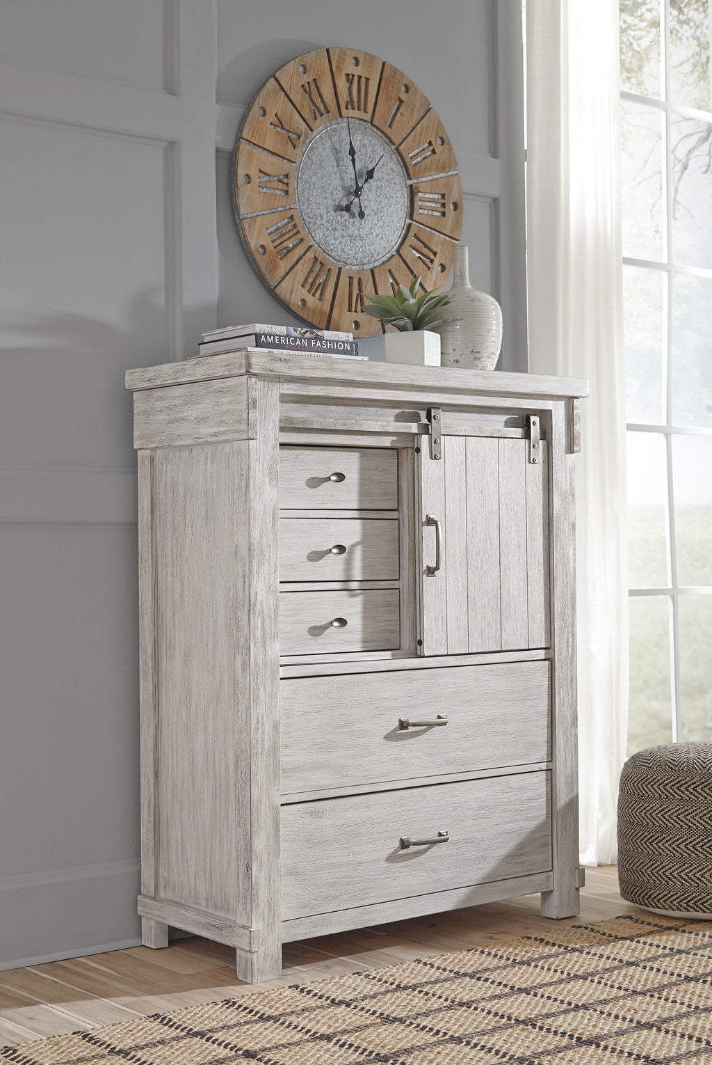 Ashley Chest No, Thank you Ashley Brashland White Five Drawer Chest