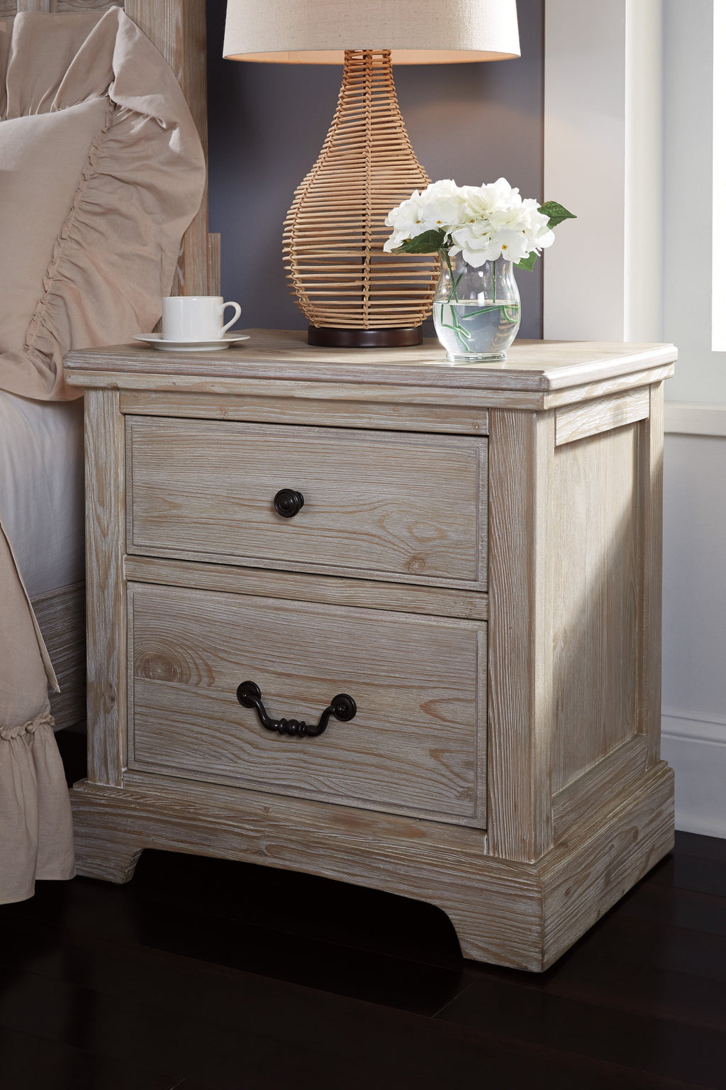 Ashley Flynnter Medium Brown Two Drawers Nightstand