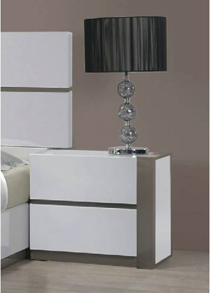 Chintaly Imports Nightstand No, Thank you Chintaly MANILA-NS-L Left 2 Drawer Night Stand