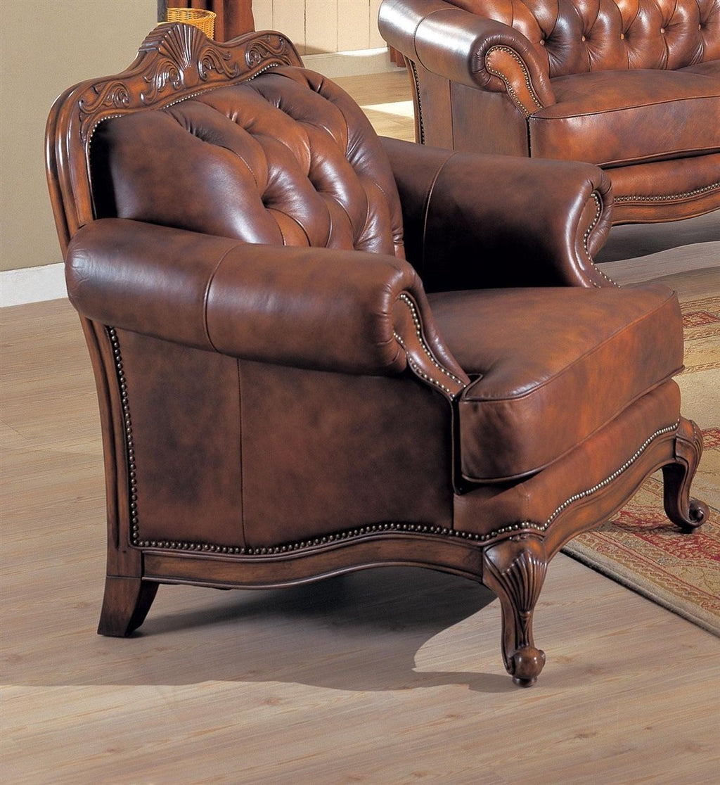 Coaster Living Room Chair No, Thank you Coaster Victoria 500683 Traditional Brown Chair