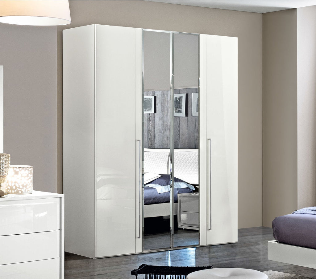 ESF Armoire No, Thank you ESF Dama Bianca 4 Doors Wardrobe with 2 Mirrors