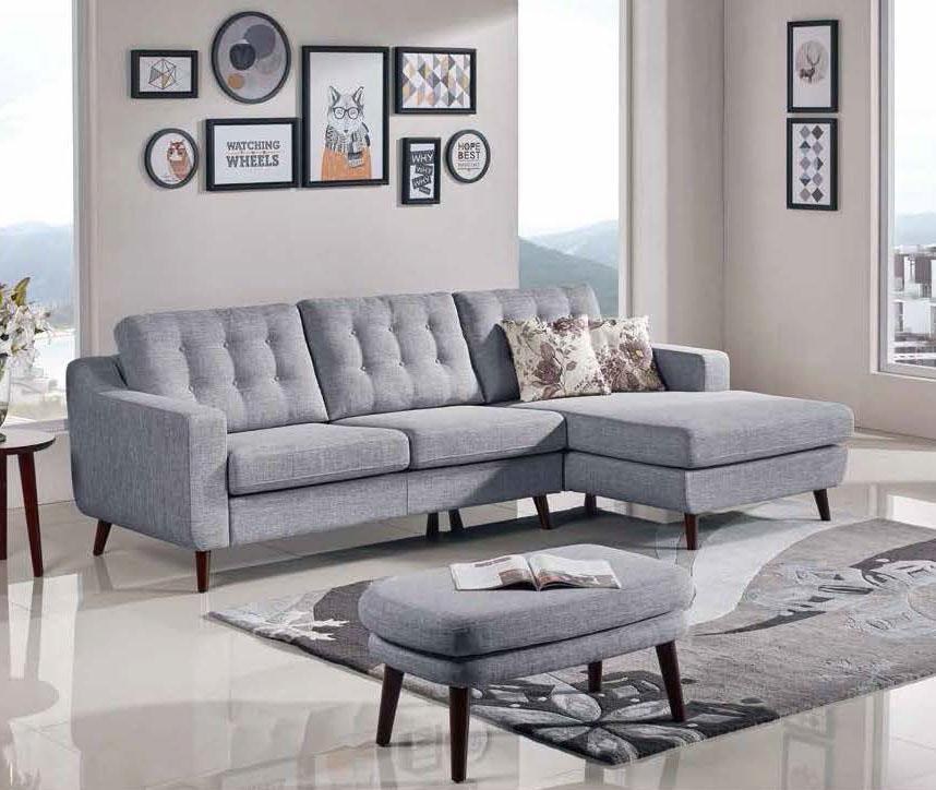 Fantastic Esf Mb 1678 Grey Fabric Sectional Sofa Set Onthecornerstone Fun Painted Chair Ideas Images Onthecornerstoneorg