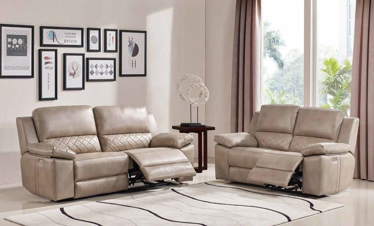 ESF MB-R035 Brown Leather Electric Recliner Sofa – Forest Furniture