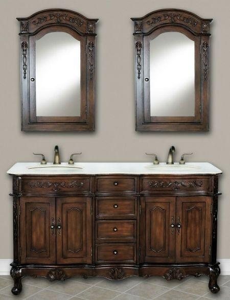 "Forest Furniture Bathroom Vanity No, Thank you / No, Thank you Forest Furniture Classic 60"" Double Bathroom Vanity"