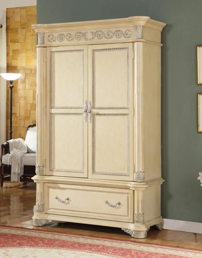 Meridian Armoire No, Thank you Meridian Sienna Panel Armoire in Beige