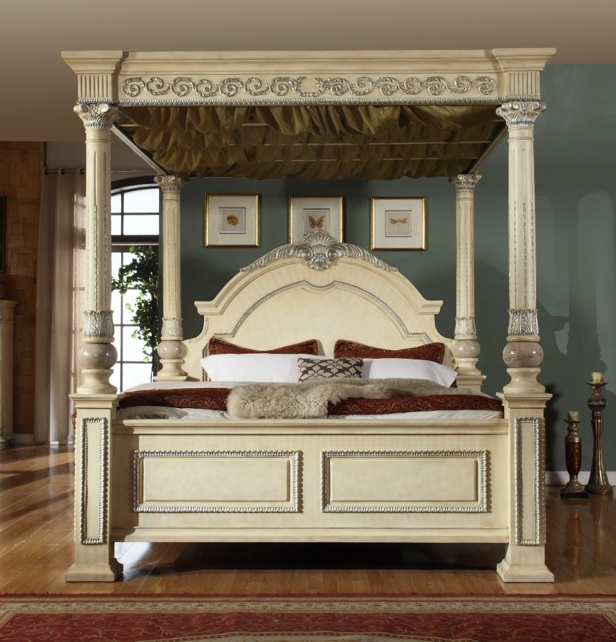 Meridian Bed No Thank You / No, Thank you Meridian Sienna Post Bed in Beige (Queen, King)
