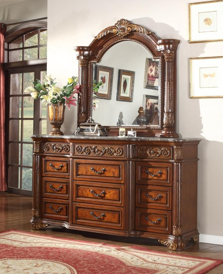 Meridian Dresser No, Thank you / No, Thank you Meridian Royal Panel Dresser in Cherrish Brown