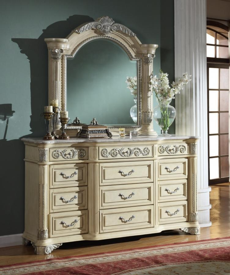 Meridian Dresser No, Thank you / No, Thank you Meridian Sienna Panel Dresser in Beige