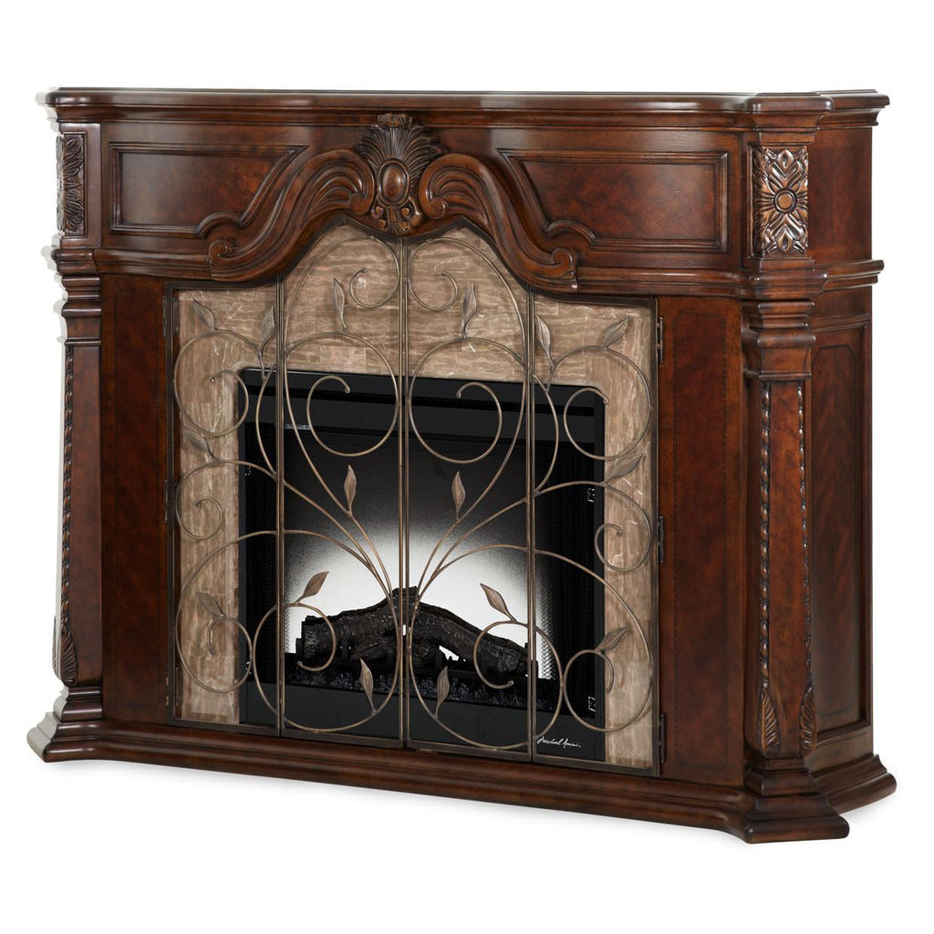 "Michael Amini Aico Fireplace No, Thank you / No, Thank you AICO Windsor Court 70220-54 67"" Fireplace"