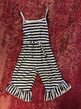 Load image into Gallery viewer, Girls Striped Romper