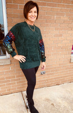 Load image into Gallery viewer, Soft Sequin Sweater - Green