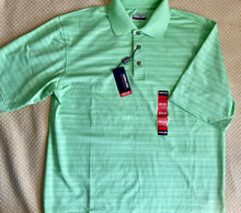 Load image into Gallery viewer, Men's Polo- Green w/Grey Stripe