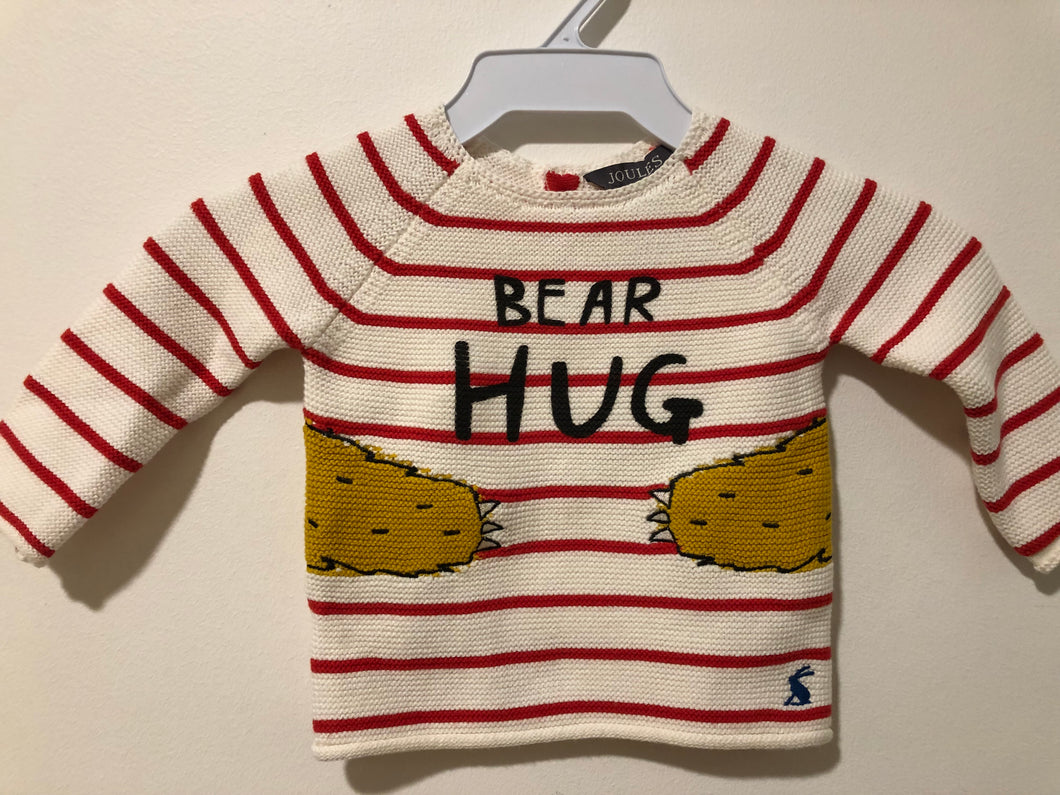 >>Baby Boy Bear Hug Sweater