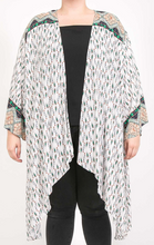 Load image into Gallery viewer, Curvy Gal Mint and Green Mix Kimono