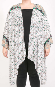 Curvy Gal Mint and Green Mix Kimono